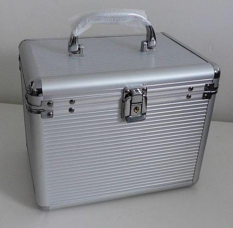 Kuferek Kufer Box Aluminiowy na płyty CD DVD kosmetyki itp