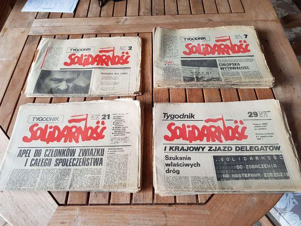 Gazeta Tygodnik Solidarność 1981 rok 32 sztuki
