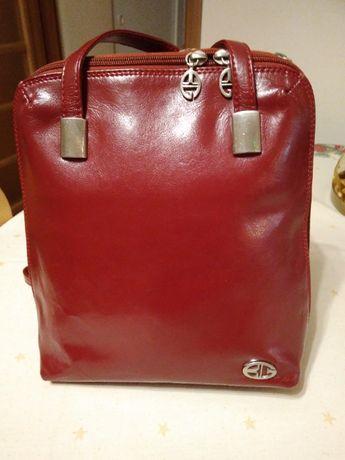 markowa torebka/plecak z naturalnej skóry