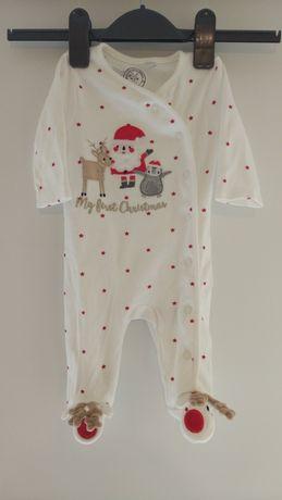 Новогодний человечек слип костюм пижама 0-3