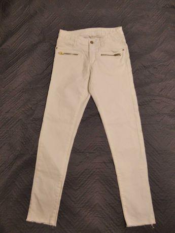 Białe spodnie jeansy dziewczęce KappAhl rozmiar 164