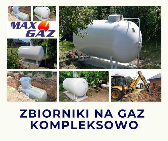 zbiornik na gaz 2700, 4850, 6400 płynny propan, lpg, montaż instalacja