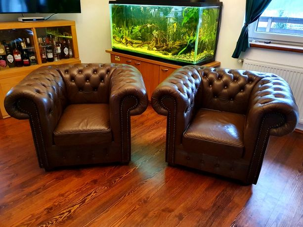 Kanapa / sofa plus dwa fotele skórzane