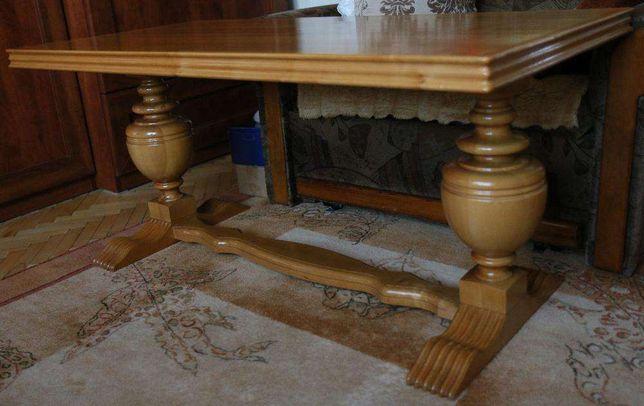 Ława rzeźbiona drewno naturalne olcha