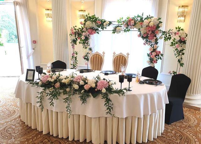 Hexagon Ścianka ślubna Ścianka kwiatowa Dekoracja sali weselnej