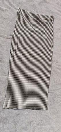 Zara maxi spódnica bandażowa prążkowana S H&M