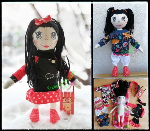 Balbinka lalka handmade malowana lala rozbieralna Ubranka