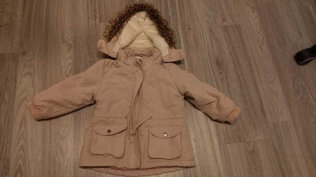 Kurtka dla dziewczynki  parka jesienna zimowa, rozmiar 86,H&M