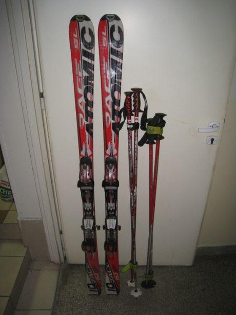 narty ATOMIC 163 cm +kompletny sprzęt i strój narciarski