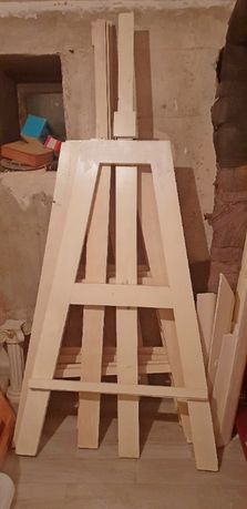 Sztalugi drewniane do ciężkich prac. Komplet 4 sztuki.