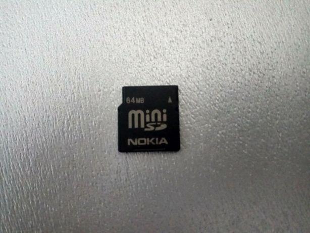 Cartão De Memória Nokia 64MB MiniSD