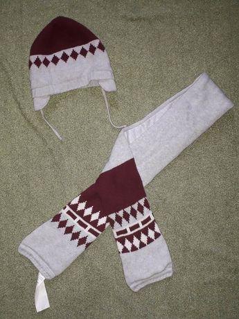 Детский набор шапка и шарф