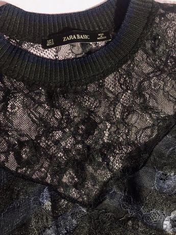 Платье-миди с гипюром ZARA