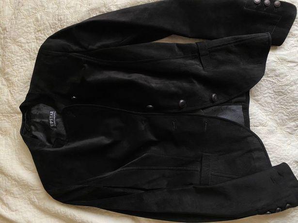 Замшевый жакет UPSTAR чёрный, размер С