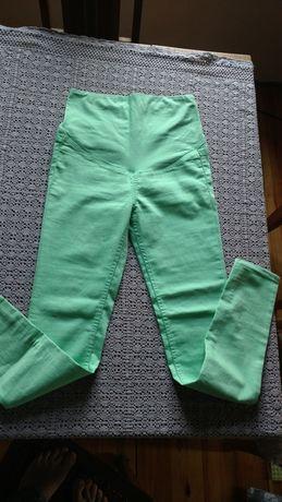 Spodnie ciążowe zielone, H&M MAMA, rozm. 34 (s)
