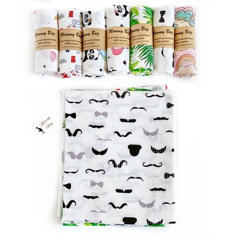 Муслиновые пеленки Mommy Bag 100*80 см