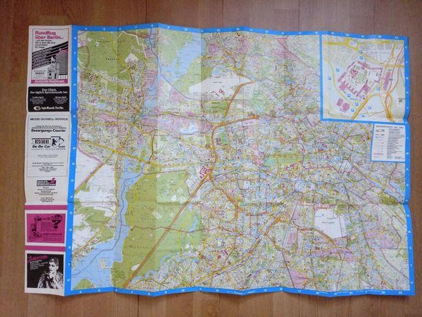 Stara Mapa Miasta Berlina / Stan bdb / 1986 /