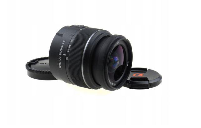 Sony SAM 18-55mm f3.8-5.6 STAN IDEALNY – PRAWIE NOWY !!!