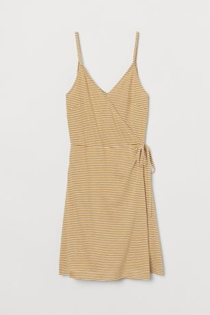 Kopertowa sukienka w paski H&M 34/XS