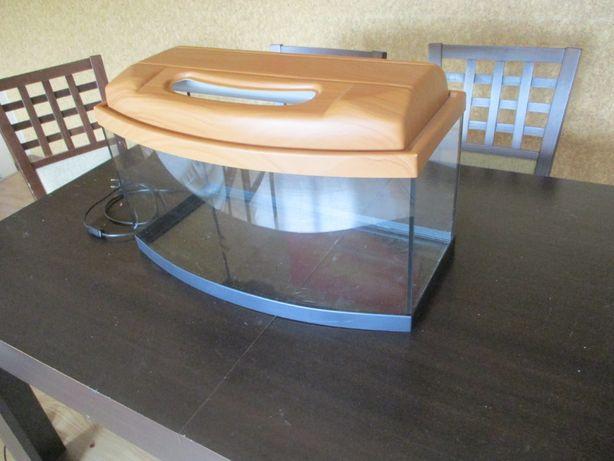 Akwarium 60 l, pełne wyposażenie: filtr, grzałka, ozdoby i wiele więce