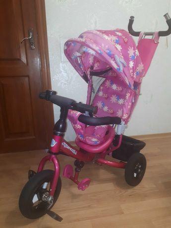 Детский трехколесный велосипед AZIMUT -TRIKE с родительской ручкой