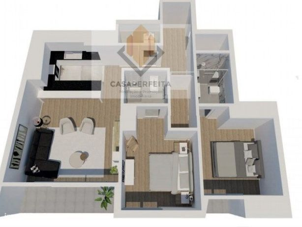 Apartamento Novo T2 com Varandas e Lugar de Garagem - Matosinhos