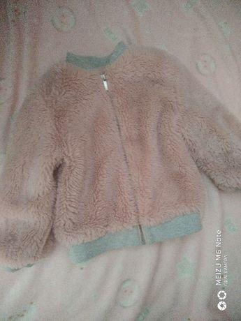 Демисезонная курточка ветровка  деми шубка меховушка Mothercare