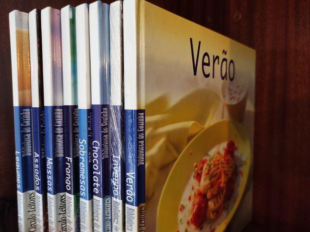 24 Livros de culinária capa dura, Novos