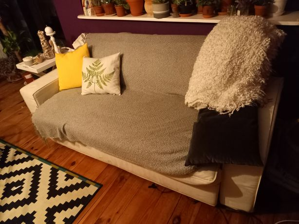 Kanapa rozkładana IKEA biała tanio