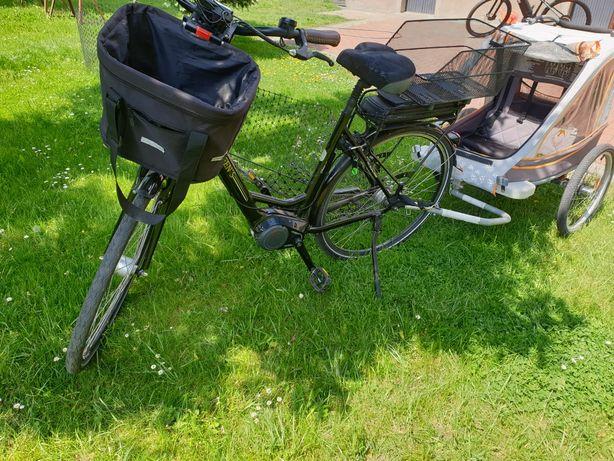 Rower elektryczny Grens + przyczepka dla dziecka