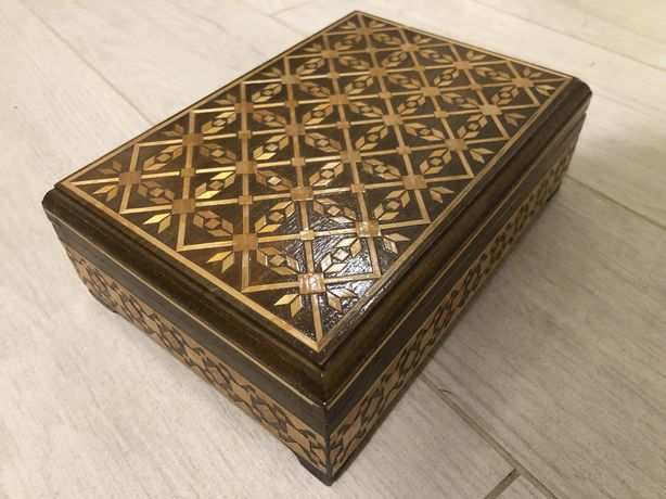 Шкатулка ретро деревянная коробочка коробка 20 х 14 х 5 см