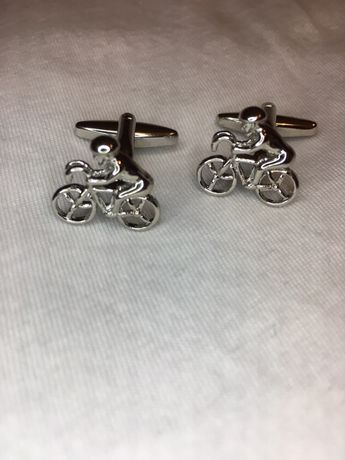 Spinki do mankietów rowerzysta