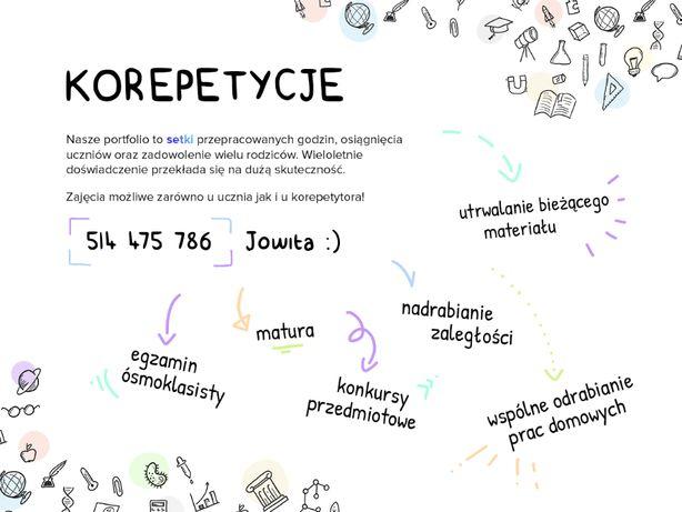 Chemia, matematyka, biologia, j. angielski centrum matura, grupy