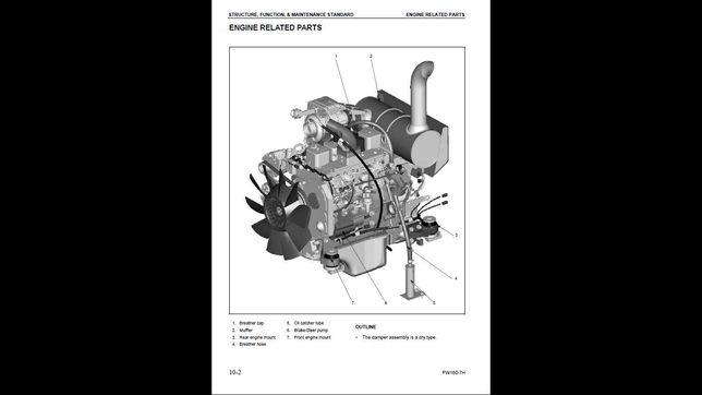 Komatsu PW 160-7H instrukcja napraw