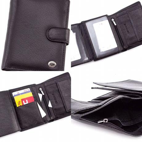 Мужской кошелёк кожаный с блоком под автомобильные документы ST.