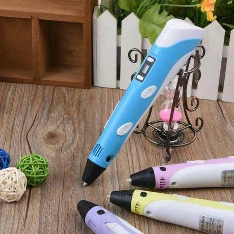 3D Ручка PEN 2 с Led Дисплеем Пластик 3Д ручка Smart pen Пен Рисования