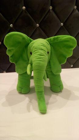 Pluszowy słonik kolor zielony