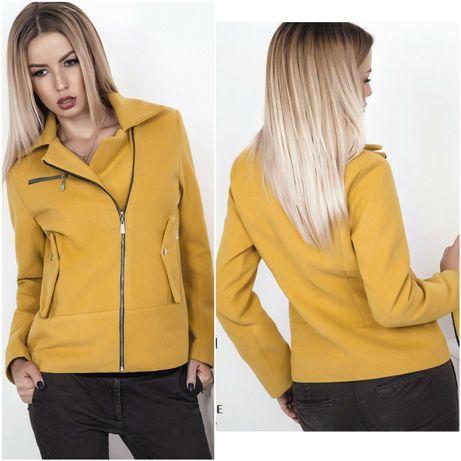 Кашемировое пальто косуха