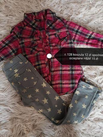 zestaw Koszula spódnica getry legiinsy r. 128
