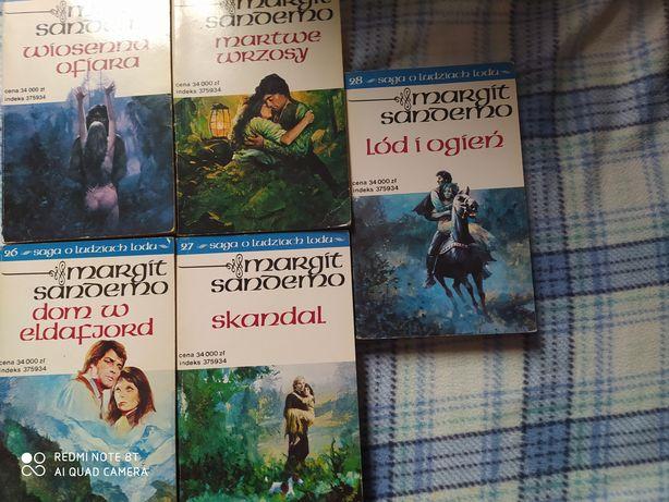 Saga o ludziach lodu Margit Sandemo tomy 23, 24, 26, 27, 28