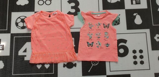 Bluzki, koszulki dla dziewczynki r. 80, NOWE