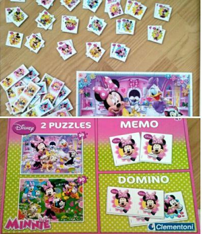15zł Puzzle 30 2 sztuki,domino,memory z myszką Mini, Daisy i innymi
