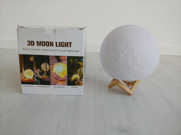 Lua 3D 28cm luz de presença NOVO!
