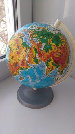 Глобус физико- географический