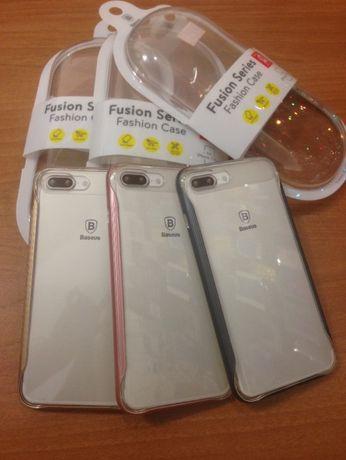 Накладка силиконовая с бампером для айфон 7/8/Plus BASEUS