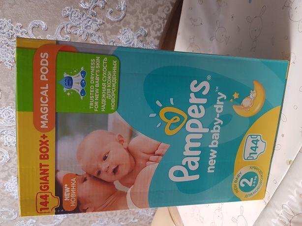Подгузники Pampers New Baby-Dry Размер 2 Mini (1) 3-6 кг, 144 шт