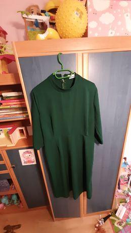 Sukienka reserved 32 butelkowa zieleń