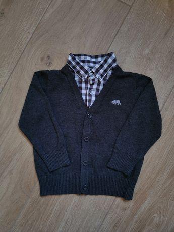 Sweter z imitacją koszuli Rebel