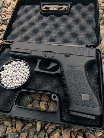 Пистолет Glock 17 страйкбольный(пневматический)