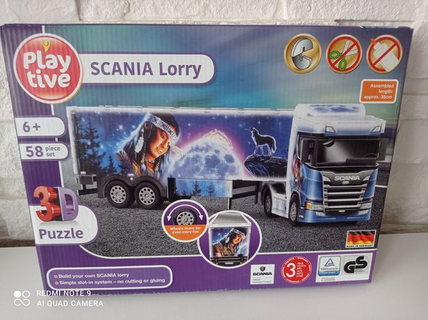 Puzzle 3D Ciężarówka Scania dla dziecka 6+.